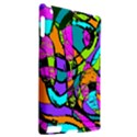 Abstract Sketch Art Squiggly Loops Multicolored Apple iPad 2 Hardshell Case (Compatible with Smart Cover) View2
