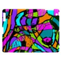 Abstract Sketch Art Squiggly Loops Multicolored Apple iPad 3/4 Hardshell Case View1