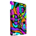 Abstract Sketch Art Squiggly Loops Multicolored Apple iPad 3/4 Hardshell Case View2