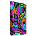 Abstract Sketch Art Squiggly Loops Multicolored Apple iPad 3/4 Hardshell Case (Compatible with Smart Cover) View2