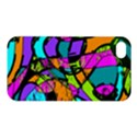Abstract Sketch Art Squiggly Loops Multicolored Apple iPhone 4/4S Premium Hardshell Case View1
