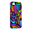 Abstract Sketch Art Squiggly Loops Multicolored Apple iPhone 4/4S Premium Hardshell Case View2