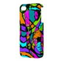 Abstract Sketch Art Squiggly Loops Multicolored Apple iPhone 4/4S Premium Hardshell Case View3