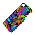 Abstract Sketch Art Squiggly Loops Multicolored Apple iPhone 4/4S Premium Hardshell Case View4