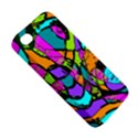 Abstract Sketch Art Squiggly Loops Multicolored Apple iPhone 4/4S Premium Hardshell Case View5