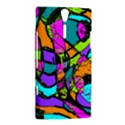 Abstract Sketch Art Squiggly Loops Multicolored Sony Xperia S View2