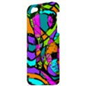 Abstract Sketch Art Squiggly Loops Multicolored Apple iPhone 5 Hardshell Case View3