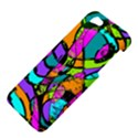 Abstract Sketch Art Squiggly Loops Multicolored Apple iPhone 5 Hardshell Case View4