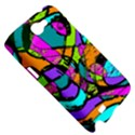 Abstract Sketch Art Squiggly Loops Multicolored Samsung Galaxy Note 2 Hardshell Case View5