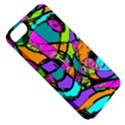 Abstract Sketch Art Squiggly Loops Multicolored Apple iPhone 5 Classic Hardshell Case View5