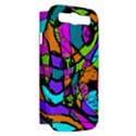 Abstract Sketch Art Squiggly Loops Multicolored Samsung Galaxy S III Hardshell Case (PC+Silicone) View2