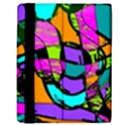 Abstract Sketch Art Squiggly Loops Multicolored Kindle Fire (1st Gen) Flip Case View3