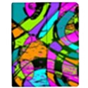 Abstract Sketch Art Squiggly Loops Multicolored Apple iPad 3/4 Flip Case View1