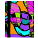 Abstract Sketch Art Squiggly Loops Multicolored Apple iPad 3/4 Flip Case View3