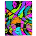 Abstract Sketch Art Squiggly Loops Multicolored Apple iPad Mini Flip Case View1