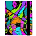 Abstract Sketch Art Squiggly Loops Multicolored Apple iPad Mini Flip Case View2