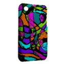 Abstract Sketch Art Squiggly Loops Multicolored Apple iPhone 3G/3GS Hardshell Case (PC+Silicone) View2