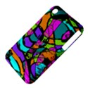 Abstract Sketch Art Squiggly Loops Multicolored Apple iPhone 3G/3GS Hardshell Case (PC+Silicone) View4