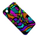 Abstract Sketch Art Squiggly Loops Multicolored Apple iPhone 3G/3GS Hardshell Case (PC+Silicone) View5