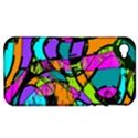 Abstract Sketch Art Squiggly Loops Multicolored Apple iPhone 4/4S Hardshell Case (PC+Silicone) View1