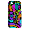 Abstract Sketch Art Squiggly Loops Multicolored Apple iPhone 4/4S Hardshell Case (PC+Silicone) View2