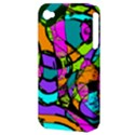 Abstract Sketch Art Squiggly Loops Multicolored Apple iPhone 4/4S Hardshell Case (PC+Silicone) View3