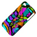 Abstract Sketch Art Squiggly Loops Multicolored Apple iPhone 4/4S Hardshell Case (PC+Silicone) View4