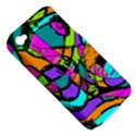 Abstract Sketch Art Squiggly Loops Multicolored Apple iPhone 4/4S Hardshell Case (PC+Silicone) View5