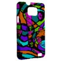 Abstract Sketch Art Squiggly Loops Multicolored Samsung Galaxy S II i9100 Hardshell Case (PC+Silicone) View2