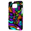 Abstract Sketch Art Squiggly Loops Multicolored Samsung Galaxy S II i9100 Hardshell Case (PC+Silicone) View3