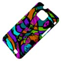 Abstract Sketch Art Squiggly Loops Multicolored Samsung Galaxy S II i9100 Hardshell Case (PC+Silicone) View4