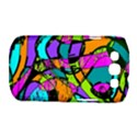 Abstract Sketch Art Squiggly Loops Multicolored Samsung Galaxy S III Classic Hardshell Case (PC+Silicone) View1