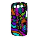 Abstract Sketch Art Squiggly Loops Multicolored Samsung Galaxy S III Classic Hardshell Case (PC+Silicone) View3