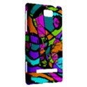 Abstract Sketch Art Squiggly Loops Multicolored HTC 8S Hardshell Case View2