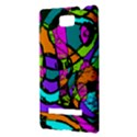 Abstract Sketch Art Squiggly Loops Multicolored HTC 8S Hardshell Case View3