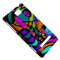 Abstract Sketch Art Squiggly Loops Multicolored HTC 8S Hardshell Case View5
