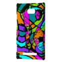 Abstract Sketch Art Squiggly Loops Multicolored HTC 8X View3