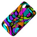Abstract Sketch Art Squiggly Loops Multicolored HTC Desire V (T328W) Hardshell Case View4