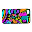 Abstract Sketch Art Squiggly Loops Multicolored Apple iPhone 4/4S Hardshell Case with Stand View1