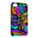 Abstract Sketch Art Squiggly Loops Multicolored Apple iPhone 4/4S Hardshell Case with Stand View2