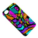 Abstract Sketch Art Squiggly Loops Multicolored Apple iPhone 4/4S Hardshell Case with Stand View5