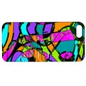 Abstract Sketch Art Squiggly Loops Multicolored Apple iPhone 5 Hardshell Case with Stand View1