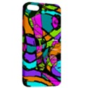 Abstract Sketch Art Squiggly Loops Multicolored Apple iPhone 5 Hardshell Case with Stand View2