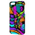Abstract Sketch Art Squiggly Loops Multicolored Apple iPhone 5 Hardshell Case with Stand View3