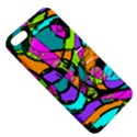 Abstract Sketch Art Squiggly Loops Multicolored Apple iPhone 5 Hardshell Case with Stand View5