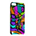 Abstract Sketch Art Squiggly Loops Multicolored Apple iPod Touch 5 Hardshell Case with Stand View2