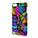 Abstract Sketch Art Squiggly Loops Multicolored Apple iPod Touch 5 Hardshell Case with Stand View3