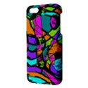 Abstract Sketch Art Squiggly Loops Multicolored Apple iPhone 5 Premium Hardshell Case View3
