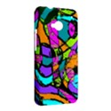 Abstract Sketch Art Squiggly Loops Multicolored HTC One M7 Hardshell Case View2