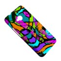 Abstract Sketch Art Squiggly Loops Multicolored HTC One M7 Hardshell Case View5